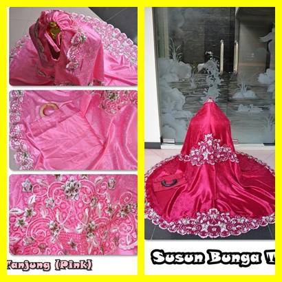 Mukena Bordir Susun Bunga Tanjung - Bahan Semi Sutra Renda Cantik Full Warna