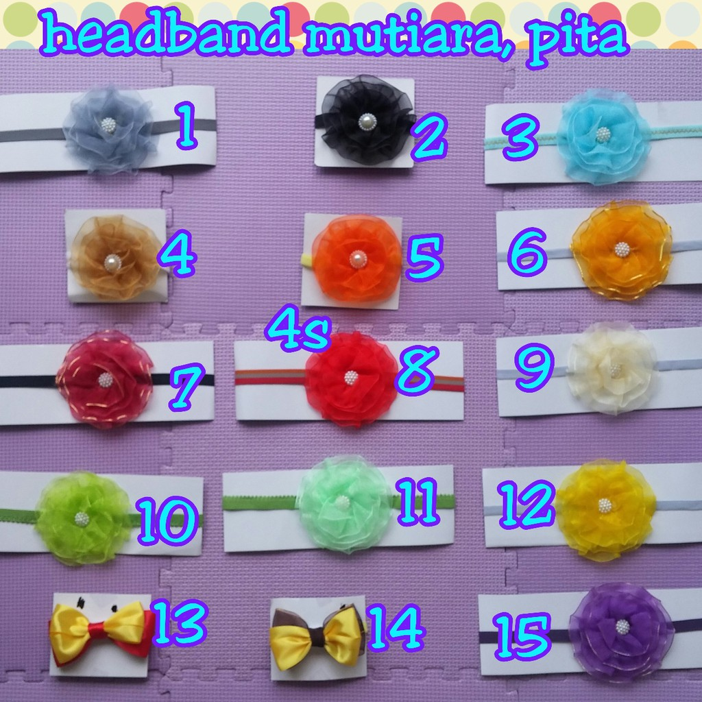 Headband Qq Pita Mutiara Shopee Indonesia