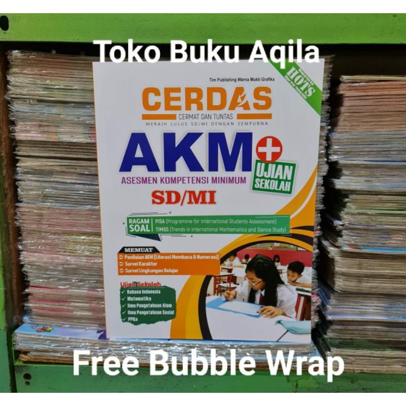 Buku Soal Cerdas Akm Sd Mi Ujian Sekolah Dilengkapi Kunci Jawaban Original Shopee Indonesia