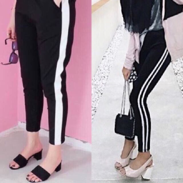 Bangkok Side Stripe Pants Celana Bangkok Garis Celana Import Bkk 1 2 3 Shopee Indonesia