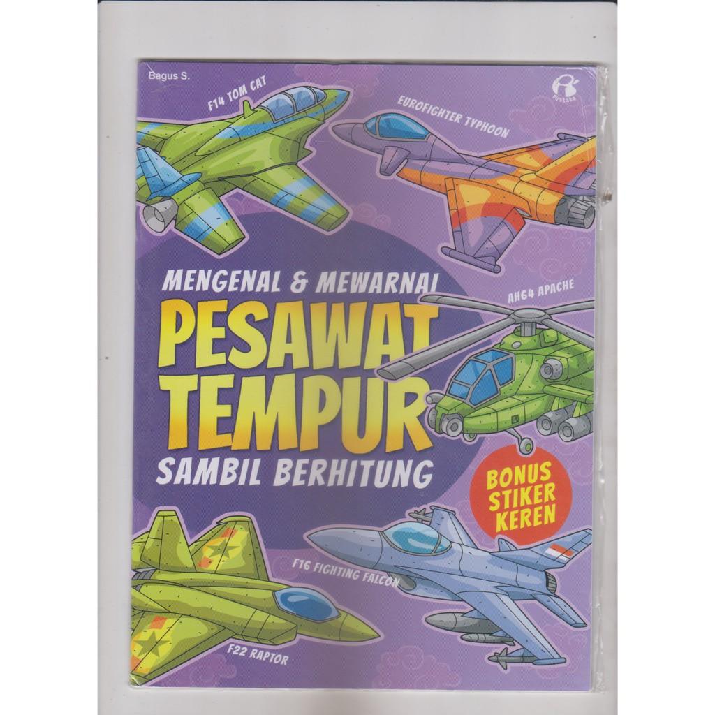 Buku Mengenal Mewarnai Pesawat Tempur Shopee Indonesia