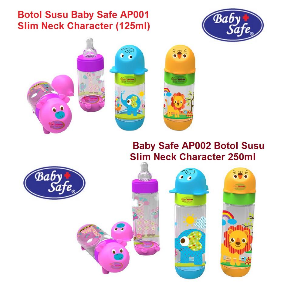 BABY SAFE Feeding Bottle 125 ml AP-001 / BOTOL SUSU BABY SAFE | Shopee Indonesia