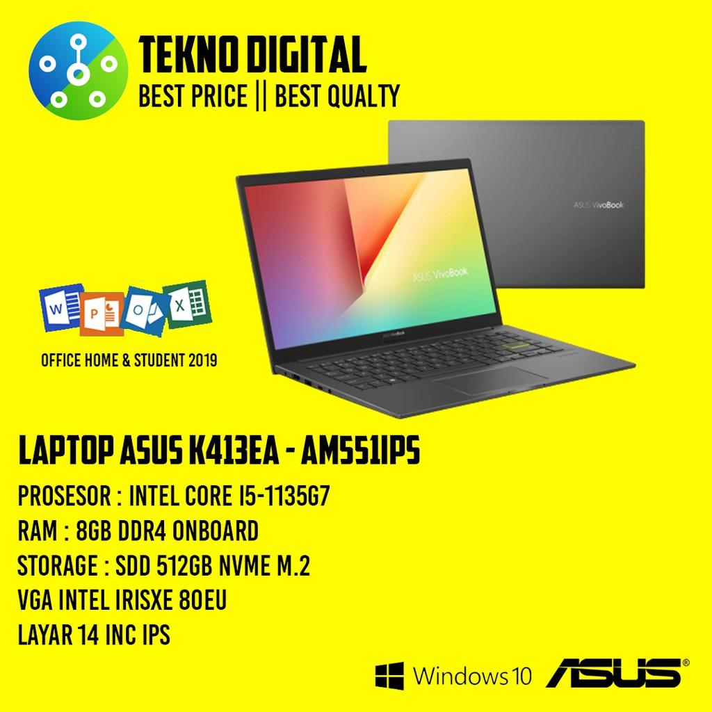 Laptop Asus K413EA - AM551IPS Core i5-1135G7/RAM 8GB/ SSD 512GB/WIN 10