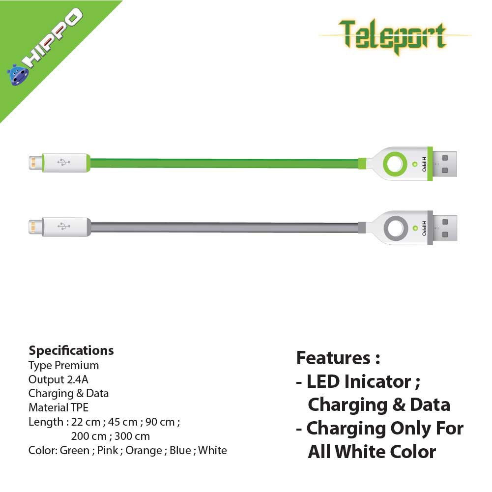 Hippo Teleport 2 Type C 120 200 Cm Usb 30 A Kabel Data Charger Valley Micro 100 Tanpa Dus Garansi Blue Shopee Indonesia
