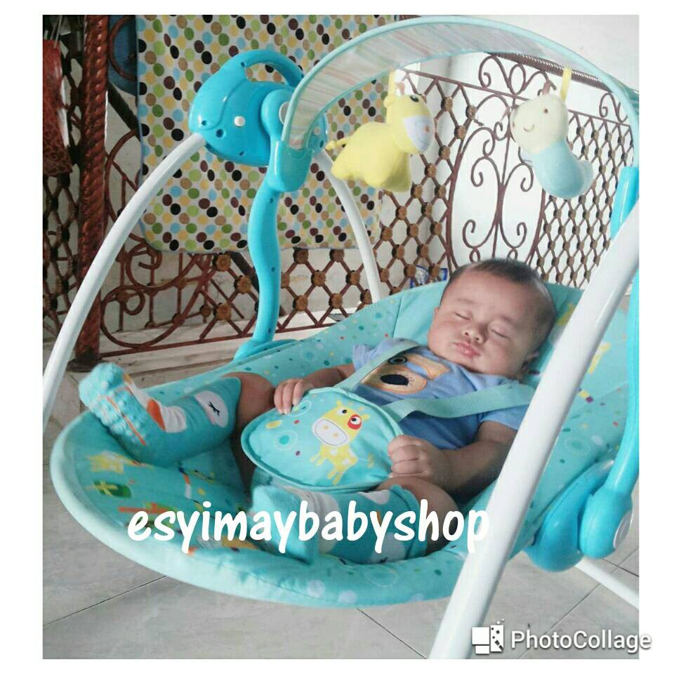 Bouncer Baby Elle Swing Automatic Shopee Indonesia Babyelle Pink 32007