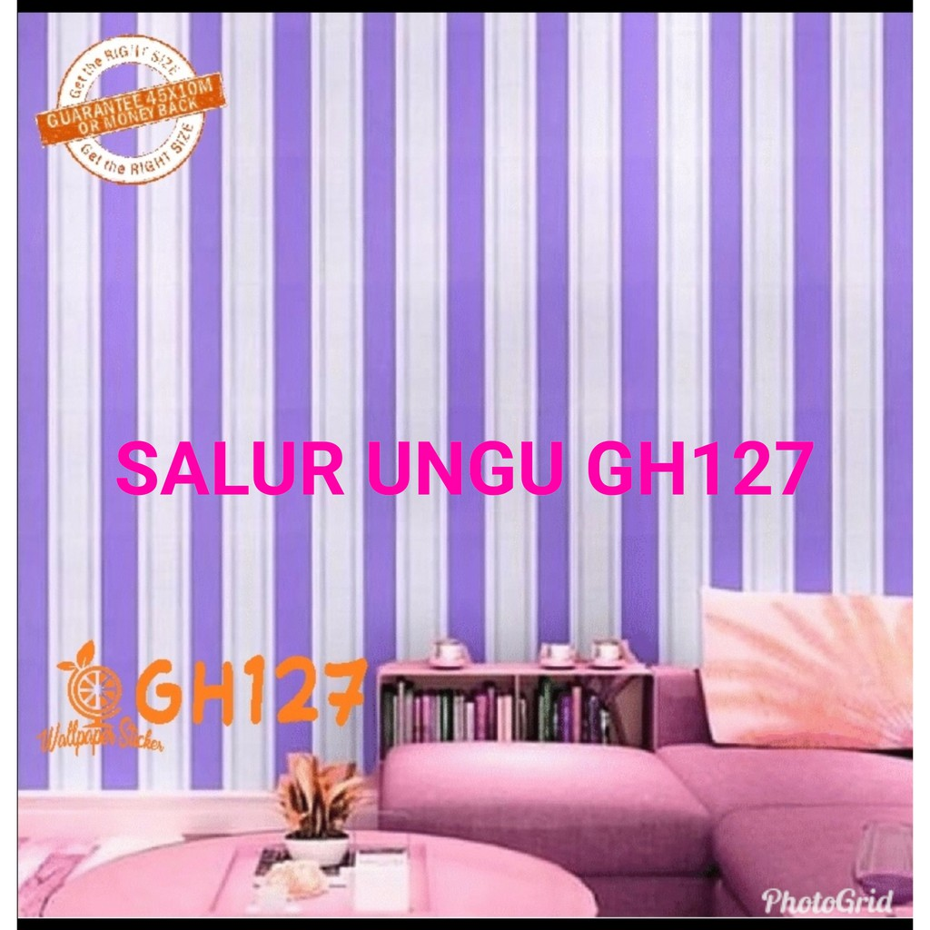 WALLPAPER MTF SALUR UNGU GH127 KOLIAN 32RB