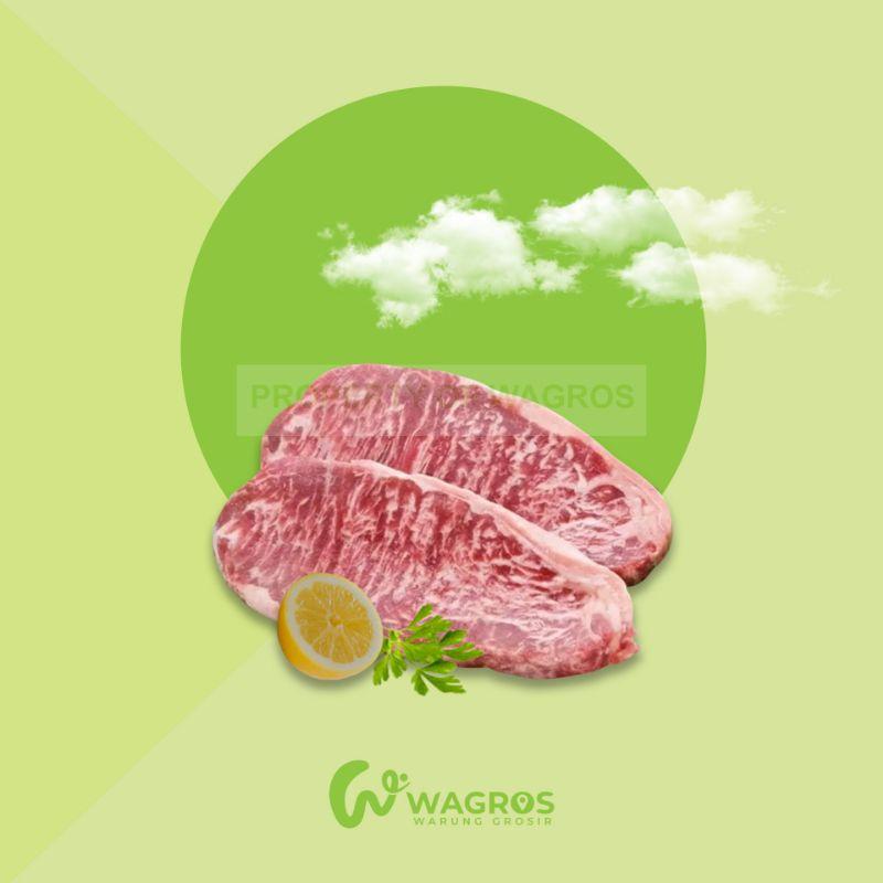 Daging Wagyu Meltique Sirloin Steak 1kg / Wagyu Meltik Bandung