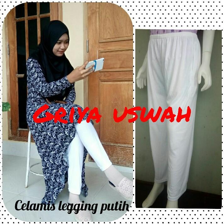 Legging Putih Celana Dalaman Gamis Celamis Panjang Cewek Inner Pants Umroh Haji Murah Grosir Shopee Indonesia