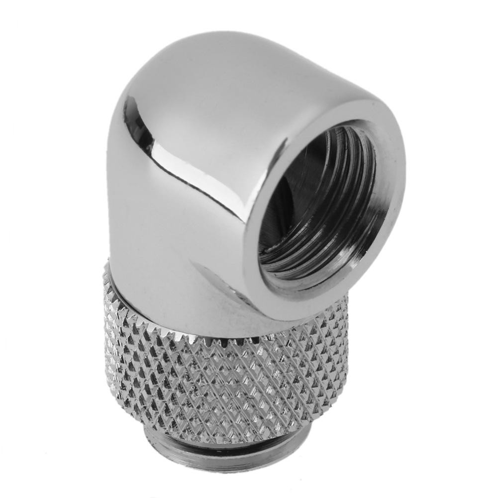 90 Degree Rotary G1//4 Thread Elbow Adapter for PC Water Cooling System Hose Tube