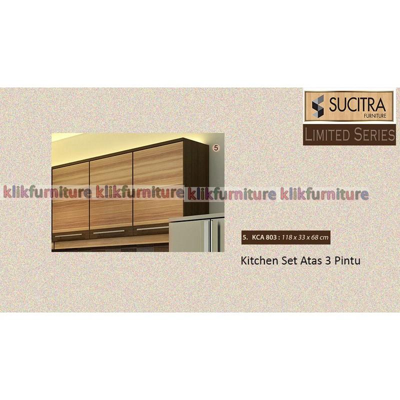 Kirana Kitchen Set Denver Lemari Bawah 3 Pintu Shopee Indonesia