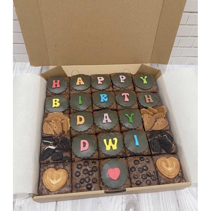 Brownies Panggang custom / Brownies Fondant / Brownies murah / Brownies Ulang Tahun