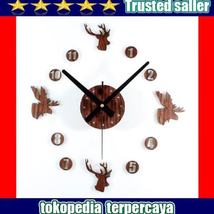 Diy Giant Wall Clock 30 60cm Diameter Elet00663 Jam Dinding Brown ... b941d0b763