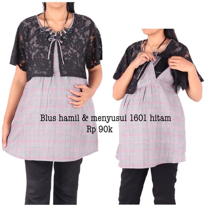 BAJU HAMIL CANTIK BLUS 1623 ABU | Shopee Indonesia
