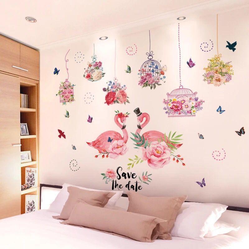 3d Tiga Dimensi Stiker Dinding Stiker Kamar Tidur Anak Perempuan Dekorasi Wallpaper Samping Tempat Tidur Dinding Yang Hangat Menancapkan Wallpaper Shopee Indonesia