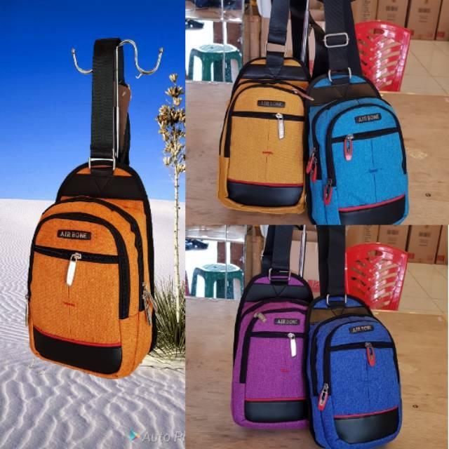 IdolaBags-Tas Selempang Pria Kanvas /Tas Fortuner Import Original /Slingbag Fashion Cowok /Travelbag | Shopee Indonesia