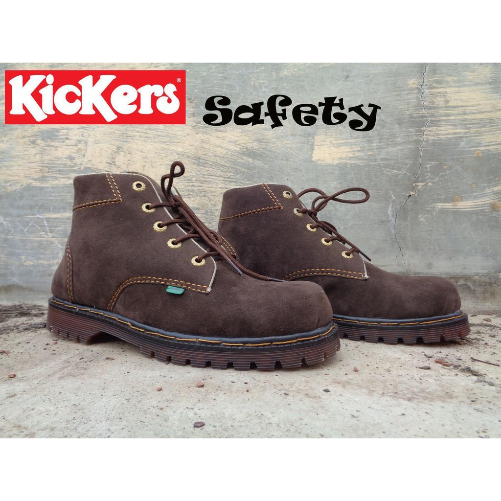 Sepatu Kickers Safety Boots Aventador Coklat Tua  4646cce876