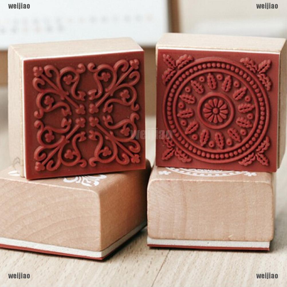 1Pc Stempel DIY Variasi 6 Desain Renda Bunga dengan Kotak ...