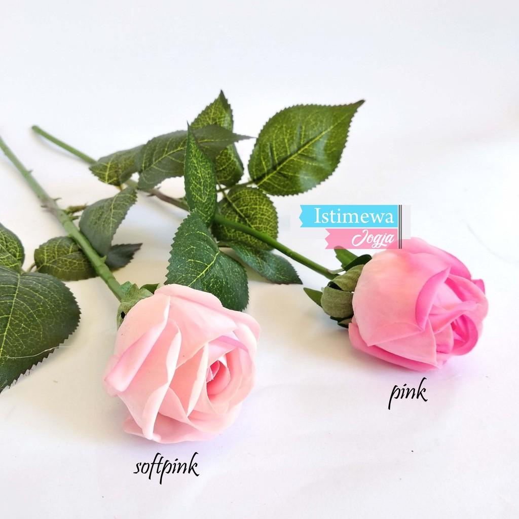 Tangkai Bunga Mawar Plastik Cantik Rose Palsu Eceran Af05 Shopee Indonesia