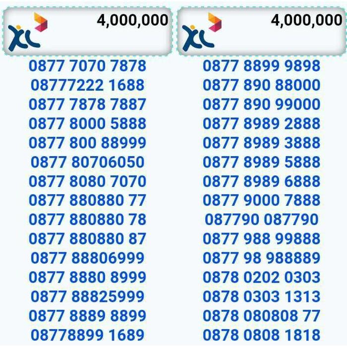 NOMOR CANTIK/XL BEBAS/seri triple&double ab/bagus/rapih/super hoki,,   Shopee Indonesia