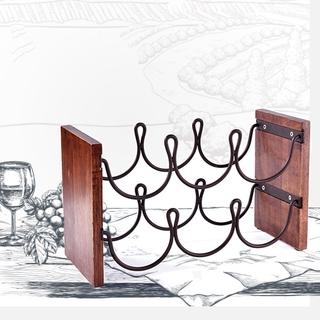 Dining Room European Style Cabinet Countertop Free Standing 2 Tier 6 Bottles Wine Rack Shopee Indonesia