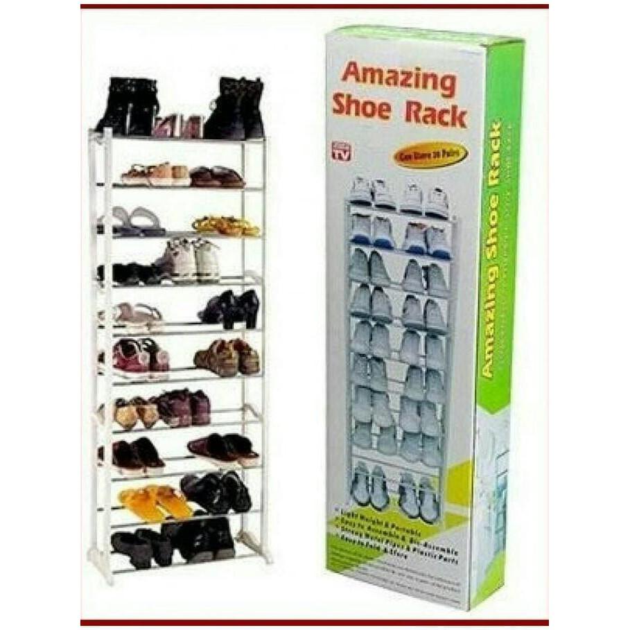 Rak Sepatu 10 Susun 9 Sekat Shoe Rack Shopee Indonesia Cover Polos Dusk Tier Grid