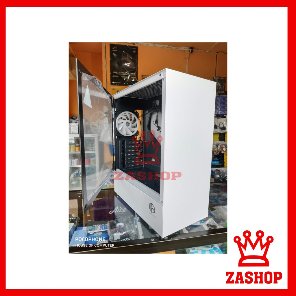 Best Seller Casing Pc Cube Gaming Klassis White Side Shopee Indonesia