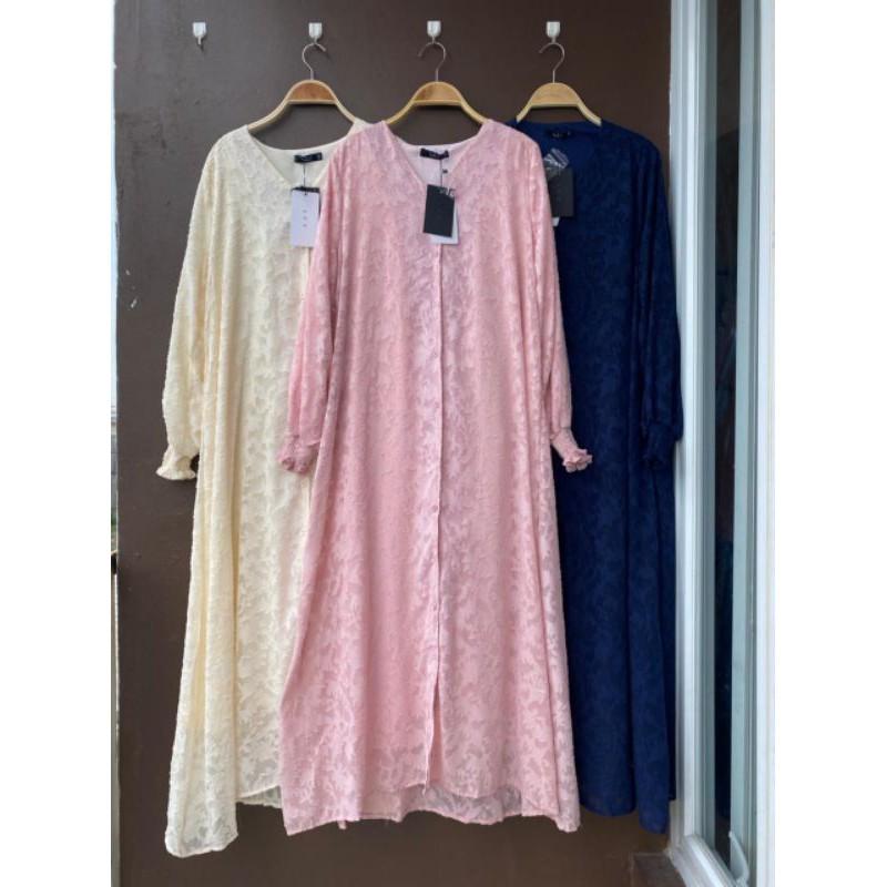 Dress Gamis Shella Bunga Premium Import LFY