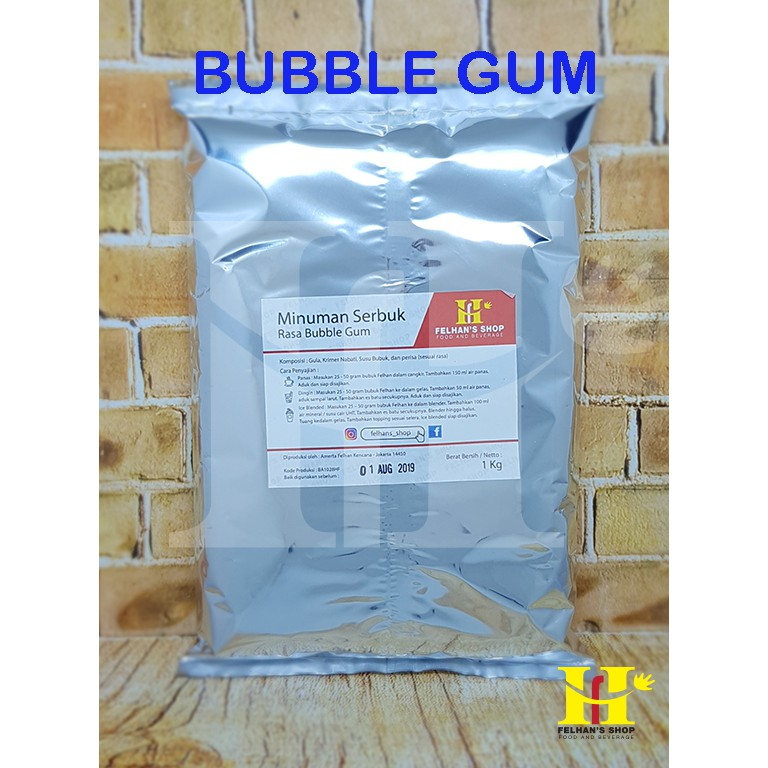 Powder drink/serbuk minuman merk harum rasa bubble gum | Shopee Indonesia