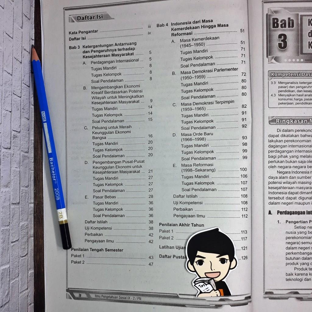 Lks Ips Smp Kelas Ix 9 Semester 2 Zamrud Shopee Indonesia