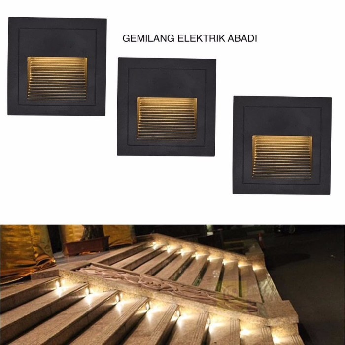 Lampu Tangga Step Light 3 Watt 3w Inbow Tanam Led Stairs Dinding Outdoor Taman 3watt Garansi Shopee Indonesia