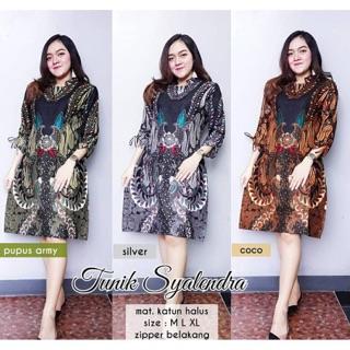 Tunik Syalendra Tunik Batik Cantik Modern Tunic Batik