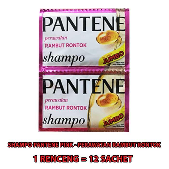 SHAMPO PANTENE SACHET 1 RENCENG ISI 12 SACHET-PINK