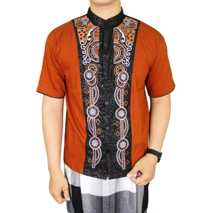 Gudang Fashion - Kemeja Lengan Pendek Batik Pria - Biru A27 premium | Shopee Indonesia