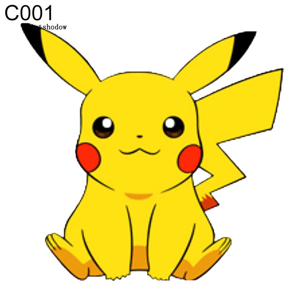 Stiker Decal Gambar Kartun Pokemon Misd Lucu Untuk Dekorasi Laptop Motor