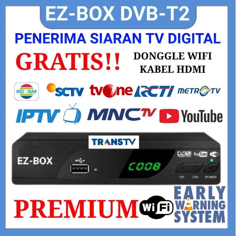 EZ-BOX SET TOP BOX DVB-T2 PENERIMA SIARAN TELEVISI DIGITAL YOUTUBE WIFI