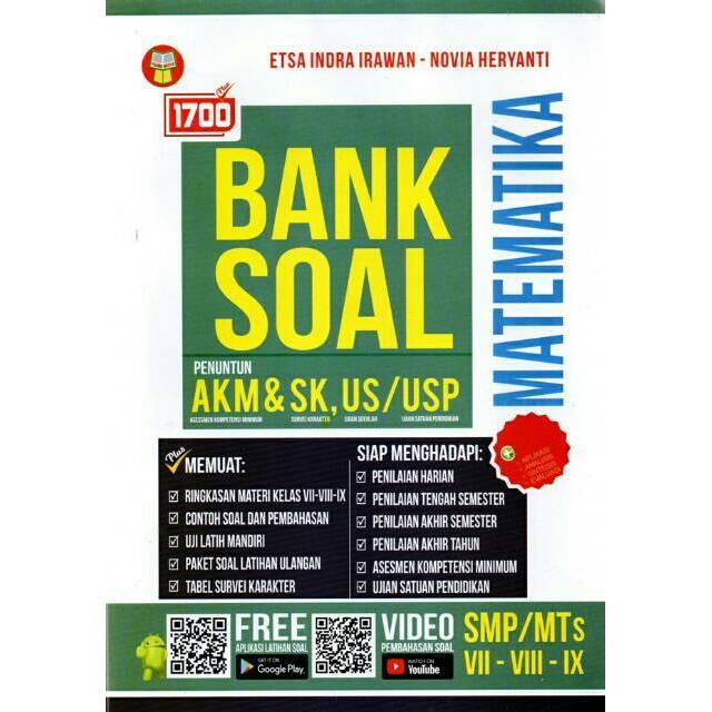 1700 Plus Bank Soal Matematika Smp Penuntun Akm Dan Sk Shopee Indonesia