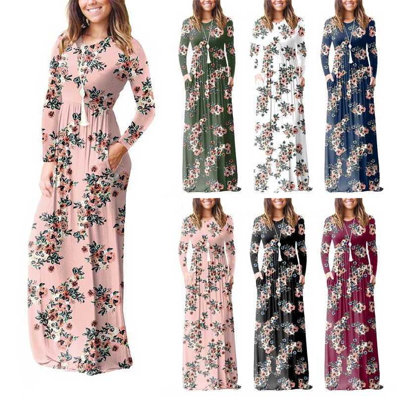 ITL-Hot Sell Womens Floral Vest Maxi Dress Pregnancy Maternity Gown Sun  dress  474193a75e