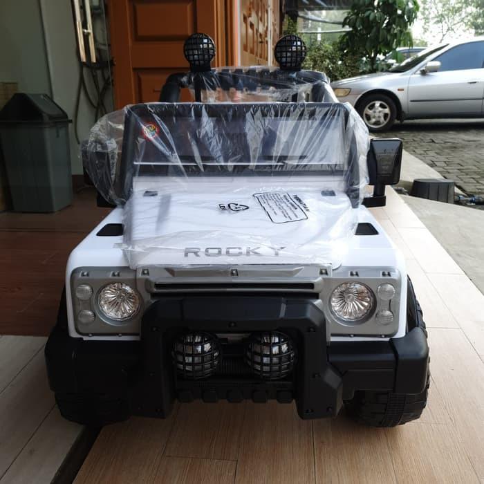 Mainan Anak Mobil Aki Shp Volta Jeep Rocky 5008 Khusus Indah Cargo Shopee Indonesia