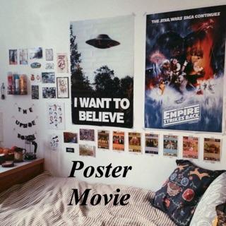 a4 poster film movie aesthetic | dekorasi kamar