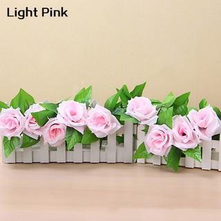 Dekorasi Rumah DIY Karangan Bunga Gantung Desain Bunga Mawar Daun Merambat Palsu Tiruan .