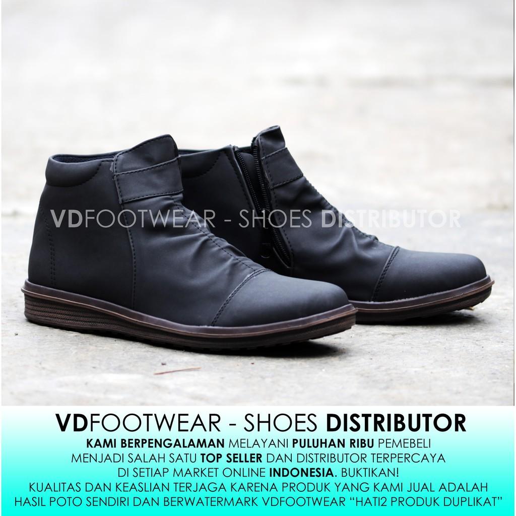 VD  Sepatu Semi Boots Low Pria Kulit Asli Sepatu Kerja Casual Formal Cowok  Laki  0163636618