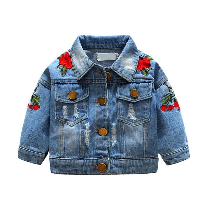 Bayar Di Tempat]Jaket Bayi / Anak Perempuan Bahan Jeans / Denim ...