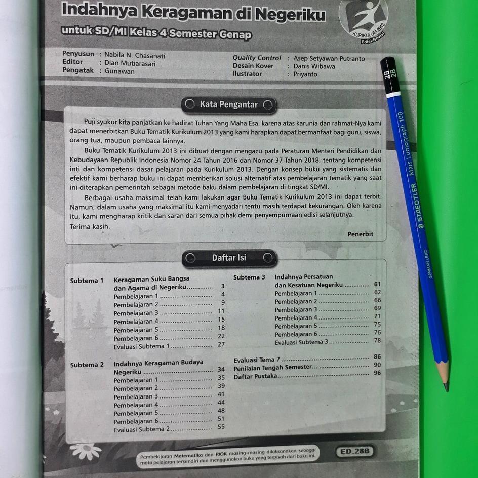 697 Paket Lengkap Lks Tematik Sd Mi Kelas 4 Tema 6 7 8 9 Semester 2 Eksis Shopee Indonesia