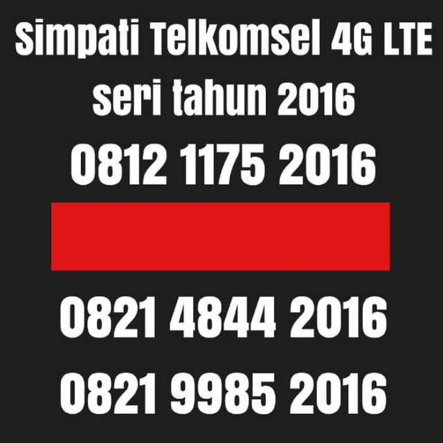 Nomor cantik Simpati Telkomsel 4G lte nomer kartu perdana tahun 1996   Shopee Indonesia