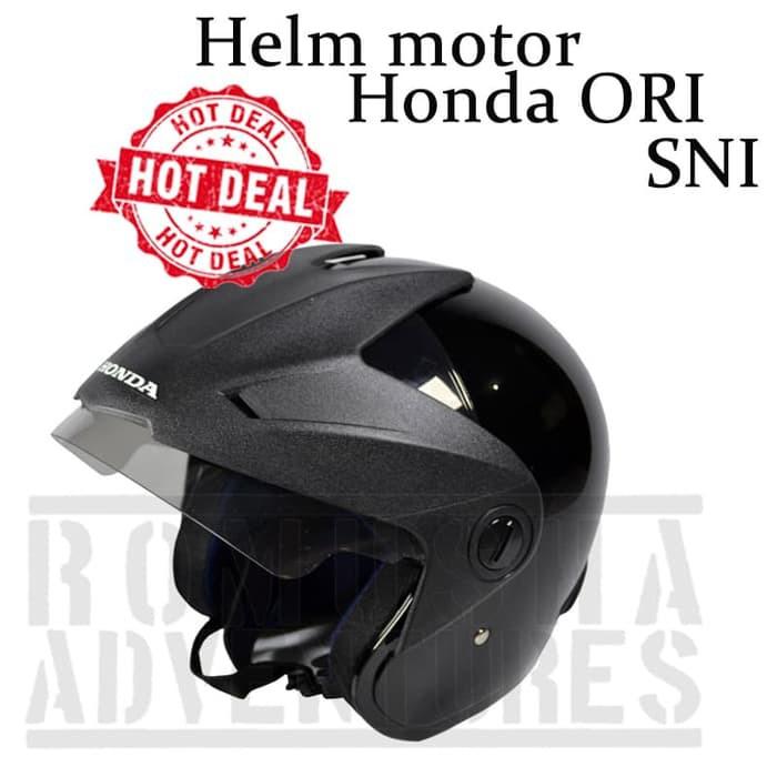 [COD]HW Helm Motor Half Face Bahan Kulit Motif Garis dengan Kacamata Goggle Pelindung | Shopee Indonesia
