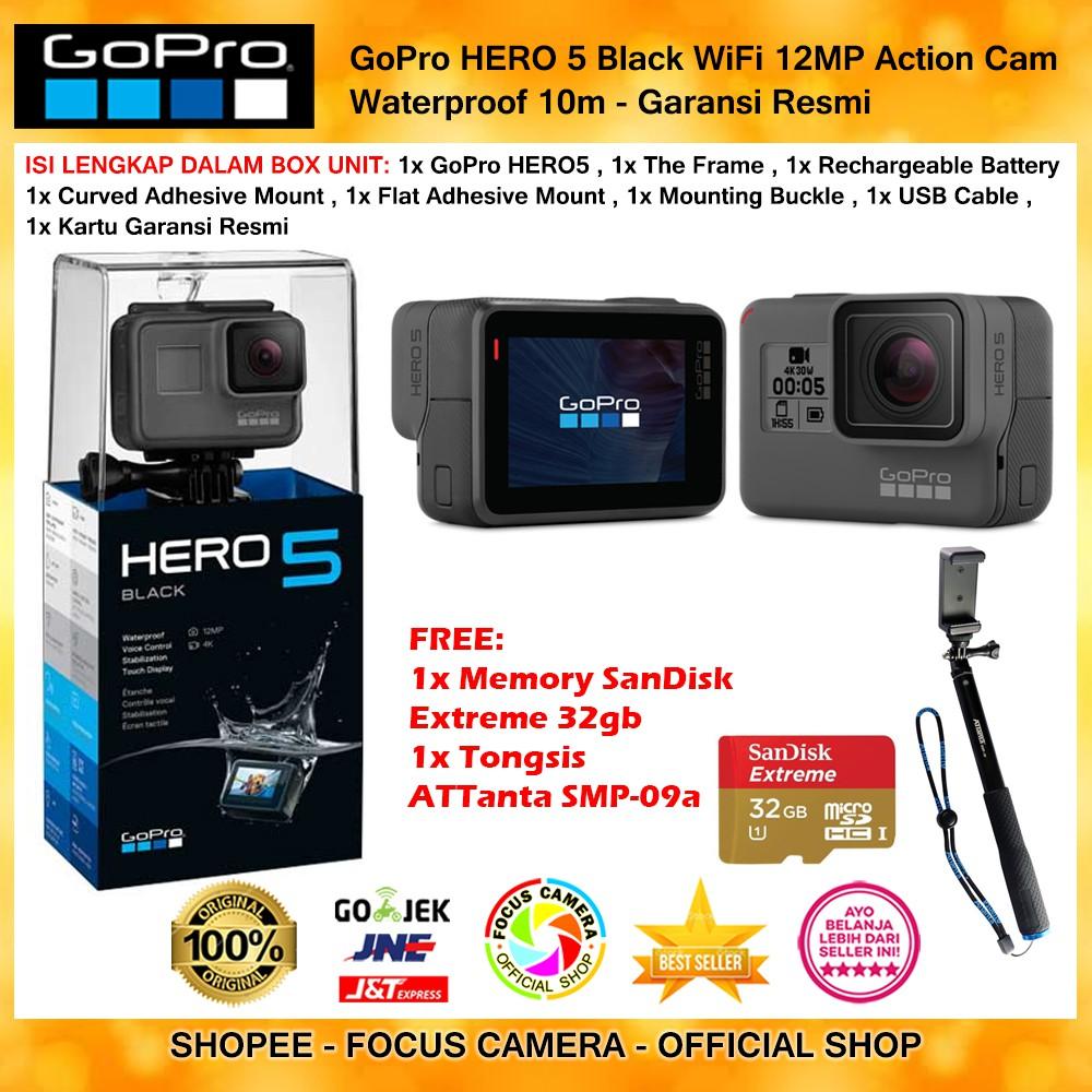 Gopro Hero 2018 Action Camera Shopee Indonesia Monopod Attanta Smp 33 Hitam