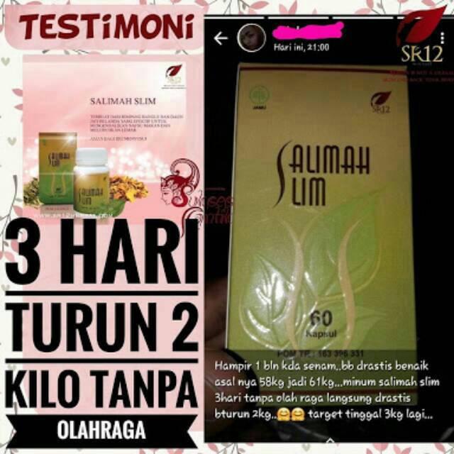 Ampuh Salimah Slim Sr12 Pelangsing Herbal Obat Diet Alami Peluntur Lemak Penurun Berat Badan Aman Shopee Indonesia