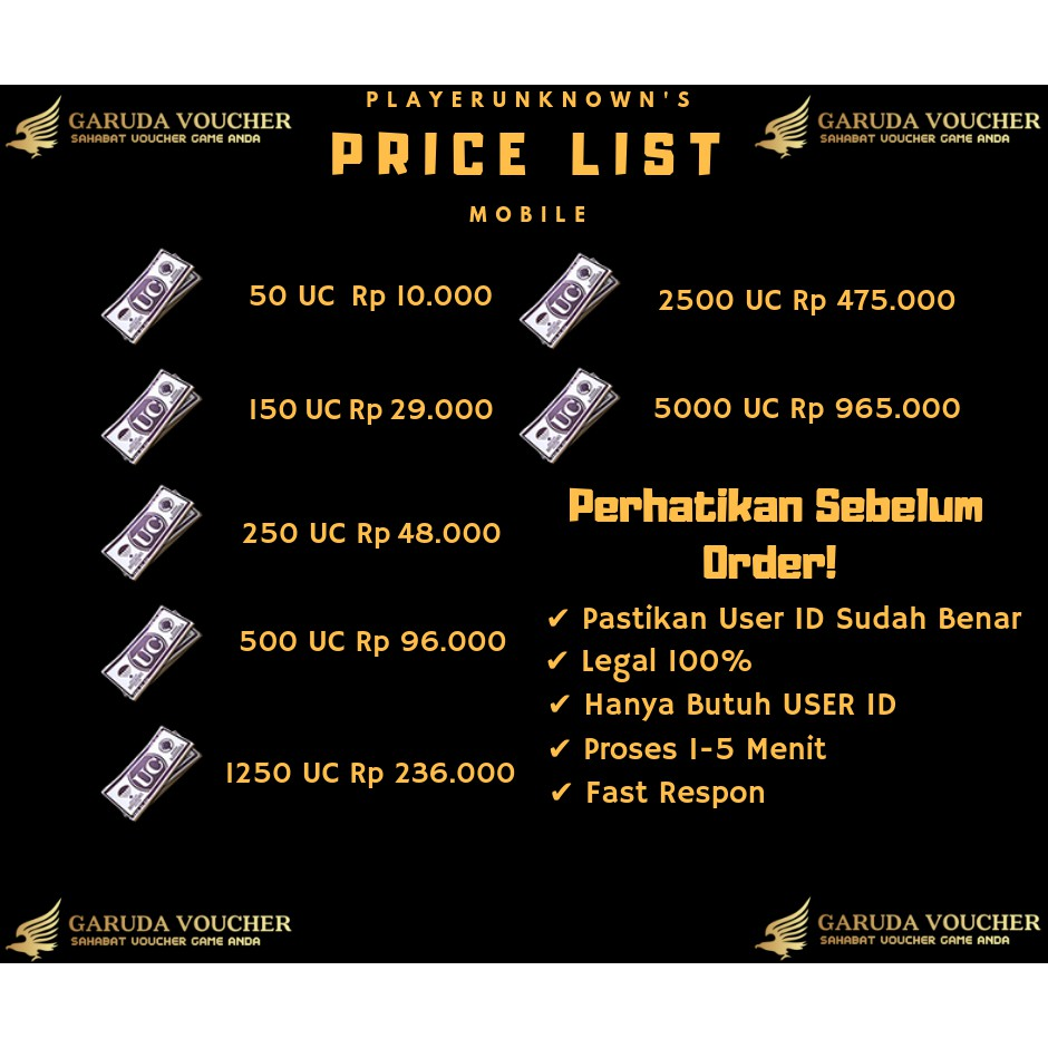 Top Up 600 Uc 1800 Legal Royale Pass Pubg Android Ios Pubgm Shopee Indonesia