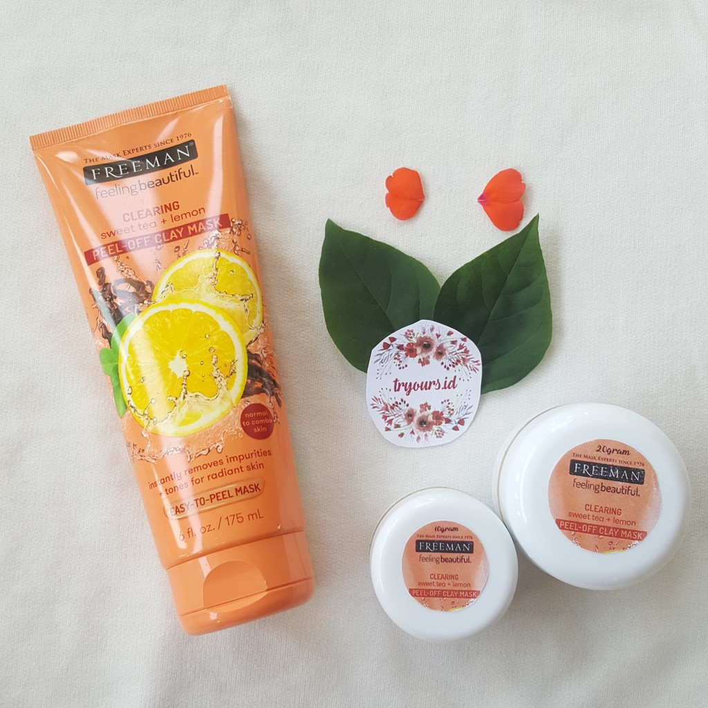 Share In Jar 10gr 20gr Freeman Sweet Tea Lemon Peel Away Clay Apel Mask Shopee Indonesia