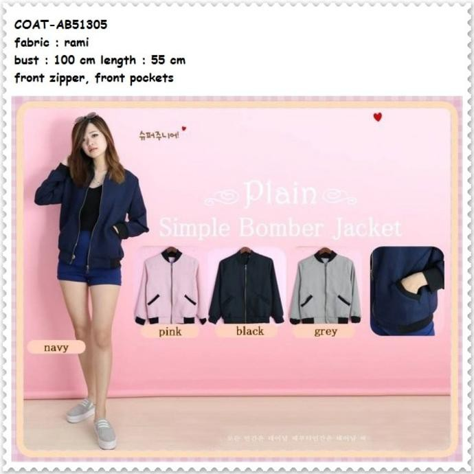 Terlaris Outer Jaket Jacket Coat Bomber Cardigan Baju Wanita Korea Import  Black  782dfcd429